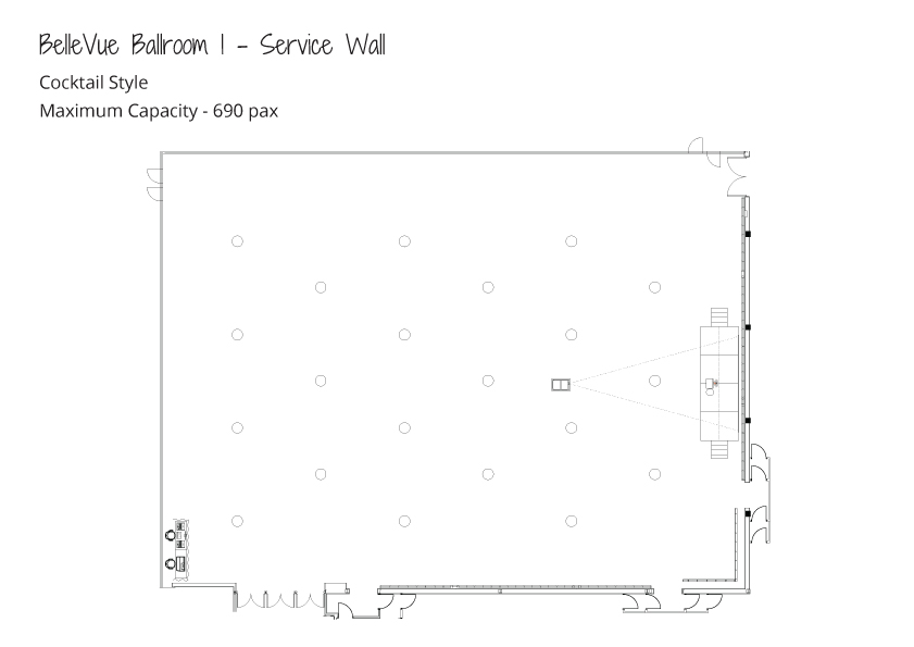 Level-3-Ballrooms---Maximum-Capacity---Cocktail-Style---Ballroom-1-Service-Wall