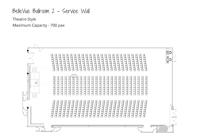 Level-3-Ballrooms---Maximum-Capacity---Theatre-Style---Ballroom-2-Service-Wall